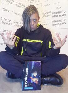 """Natsuya Uesugi Author Photo - """"Hackers Unite"""" Neon in Binary"""